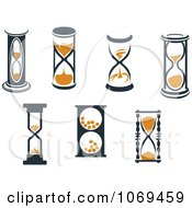 Clipart Hourglasses 3 Royalty Free Vector Illustration