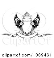 Clipart Shield With Wings 21 Royalty Free Vector Illustration