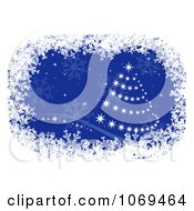 Clipart Sparkly Christmas Tree With Snowflakes Royalty Free Vector Illustration