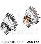 Clipart Native American Headdress Royalty Free Vector Illustration by Vector Tradition SM