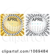 Clipart April Calendar Bursts Royalty Free Vector Illustration by Andrei Marincas