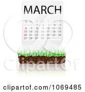 Clipart March Calendar Over Soil And Grass Royalty Free Vector Illustration by Andrei Marincas