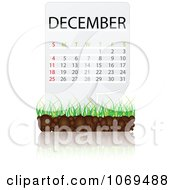 Clipart December Calendar Over Soil And Grass Royalty Free Vector Illustration by Andrei Marincas
