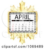 Clipart April Marquee Calendar Royalty Free Vector Illustration