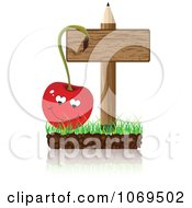 Cherry And Pencil Sign