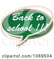 Clipart Back To School Chalkboard Word Balloon Royalty Free Vector Illustration