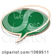 Clipart Work For Food Chalkboard Word Balloon Royalty Free Vector Illustration
