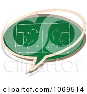 Clipart Football Field Chalkboard Word Balloon Royalty Free Vector Illustration