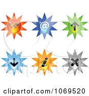 Clipart 3d Burst Website Buttons 2 Royalty Free Vector Illustration by Andrei Marincas