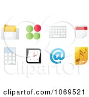 Clipart 3d Office Computer Icons Royalty Free Vector Illustration