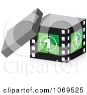 Clipart 3d Take One Filmstrip Box Royalty Free Vector Illustration by Andrei Marincas