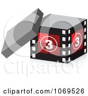 Clipart 3d Take Three Filmstrip Box Royalty Free Vector Illustration by Andrei Marincas