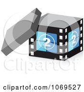 Clipart 3d Take Two Filmstrip Box Royalty Free Vector Illustration by Andrei Marincas