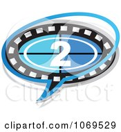 Clipart 2 Filmstrip Movie Word Balloon Royalty Free Vector Illustration