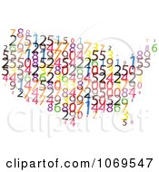 Clipart USA Number Map Royalty Free Vector Illustration by Andrei Marincas