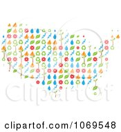 Clipart USA Ecology Map Royalty Free Vector Illustration by Andrei Marincas