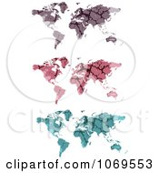 Clipart Stone World Maps Royalty Free Vector Illustration by Andrei Marincas