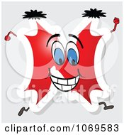 Clipart Running Red Letter N Royalty Free Vector Illustration