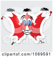 Clipart Running Red Letter W Royalty Free Vector Illustration