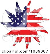 Clipart American Hand Flag Royalty Free Vector Illustration