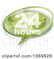Clipart 24 Hours Word Balloon Royalty Free Vector Illustration