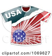 Clipart American T Shirt Royalty Free Vector Illustration