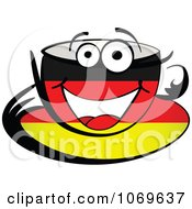 Clipart German Coffee Cup Royalty Free Vector Illustration by Andrei Marincas