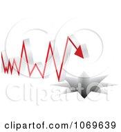 Clipart Crisis Arrow Heading Towards A Hole Royalty Free Vector Illustration