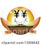 Clipart Yen Frog Legged Ball Royalty Free Vector Illustration