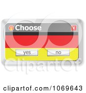 Clipart Choose German Computer Popup Royalty Free Vector Illustration