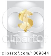 Clipart 3d Gold Dollar On A Pedestal Royalty Free Vector Illustration by Andrei Marincas
