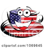 Clipart American Tea Cup Royalty Free Vector Illustration