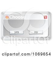 Clipart Choose Computer Popup Royalty Free Vector Illustration
