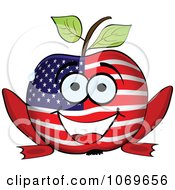 Clipart American Frog Legged Apple Royalty Free Vector Illustration