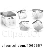 Clipart April Calendars Royalty Free Vector Illustration