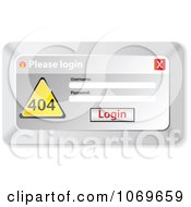 Clipart Please Login Computer Popup 1 Royalty Free Vector Illustration