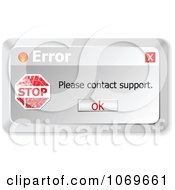Clipart Please Contact Support Error Computer Popup Royalty Free Vector Illustration