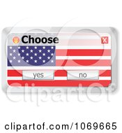 Clipart Choose American Computer Popup Royalty Free Vector Illustration