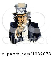 Clipart Of Navy War Recruiting Uncle Sam Pointing His Finger Royalty Free Historical Stock Illustration