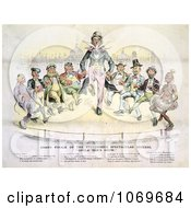 Clipart Grand Finale Of The Stupendous Spectacular Success Uncle Sams Show Royalty Free Historical Stock Illustration by JVPD
