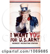 Clipart Of I Want You For The US Army Uncle Sam Picture Royalty Free Historical Stock Illustration by JVPD #COLLC1069685-0002
