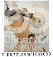 Clip Art Of Uncle Sam Dog With Liberty Bond Royalty Free Historical Stock Illustration by JVPD