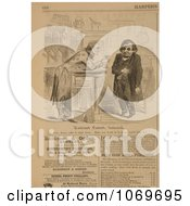 Clipart Of Uncle Sam Leaning On A Bar Offering Andrew Johnson A Glass Of Medicine For Shattered Constitutions Royalty Free Historical Stock Illustration by JVPD