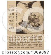Clipart Of Uncle Sam Riding The Shot That Will Win The War Royalty Free Historical Stock Illustration