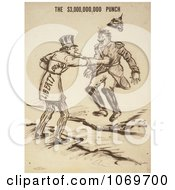 Clipart Of Uncle Sam Issuing The 3000000000 Punch Liberty Bond Royalty Free Historical Stock Illustration by JVPD