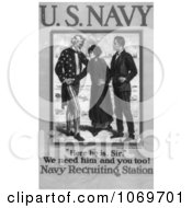 Clipart Of Uncle Sam We Need Him And You Too American Navy Recruiting Station Royalty Free Historical Stock Illustration by JVPD