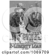 Clipart Of Uncle Sam Buy A United States Government Bond Of The 2nd Liberty Loan Of 1 Royalty Free Historical Stock Illustration by JVPD