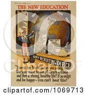 Clipart Of Uncle Sam The New Education Royalty Free Historical Stock Illustration by JVPD