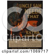 Clipart Of Uncle Sam Needs That Extra Shovelful Help Him Win The War Royalty Free Historical Stock Illustration by JVPD