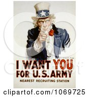 Clip Art Of Uncle Sam I Want You For US Army Royalty Free Historical Stock Illustration by JVPD